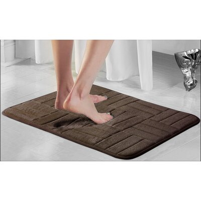 Beasley Parquete Bath Mat Size: 24 x 17, Color: Chocolate