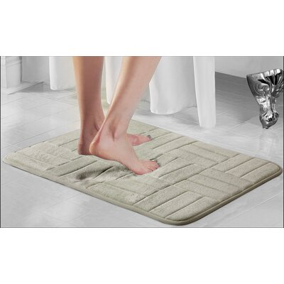 Westport Parquete Bath Mat Size: 24 x 17, Color: Taupe