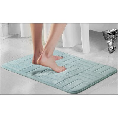 Westport Parquete Bath Mat Size: 24 x 17, Color: Aqua