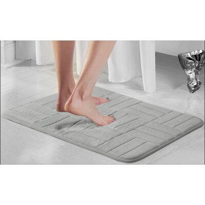 Beasley Parquete Bath Mat Size: 34 x 21, Color: Pewter