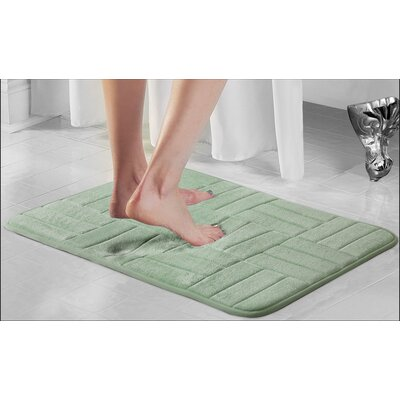 Westport Parquete Bath Mat Size: 24 x 17, Color: Sage