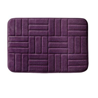 Beasley Parquete Bath Mat Size: 24 x 17, Color: Plum