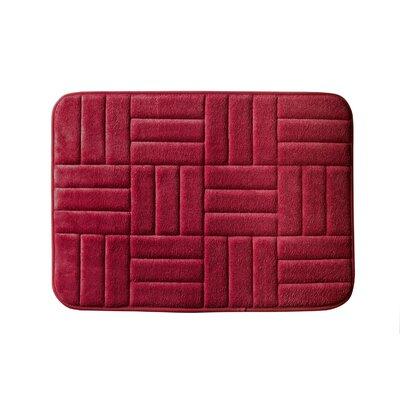 Beasley Parquete Bath Mat Size: 34 x 21, Color: Burgundy