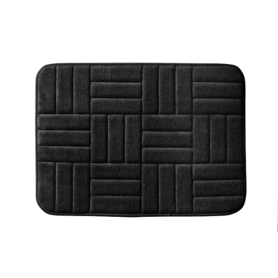 Beasley Parquete Bath Mat Size: 24 x 17, Color: Black