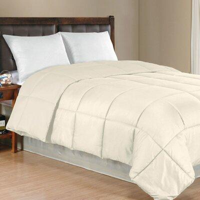 Westview Solid Microfiber Down Alternative Comforter Size: Full / Queen, Color: Ivory