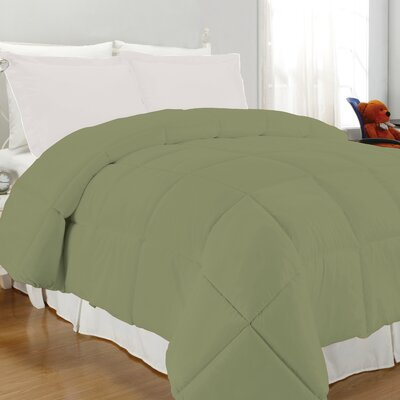 Westview Solid Microfiber Down Alternative Comforter Size: Full / Queen, Color: Sage