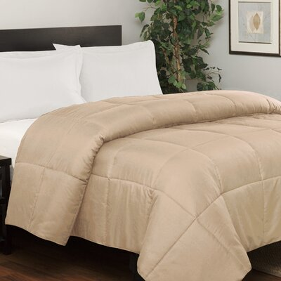 Westview Solid Microfiber Down Alternative Comforter Color: Taupe, Size: King