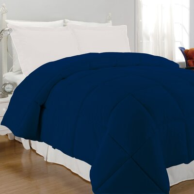 Westview Solid Microfiber Down Alternative Comforter Size: King, Color: Navy