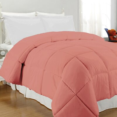 Westview Solid Microfiber Down Alternative Comforter Size: King, Color: Coral