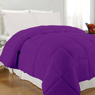 Westview Solid Microfiber Down Alternative Comforter Size: King, Color: Purple