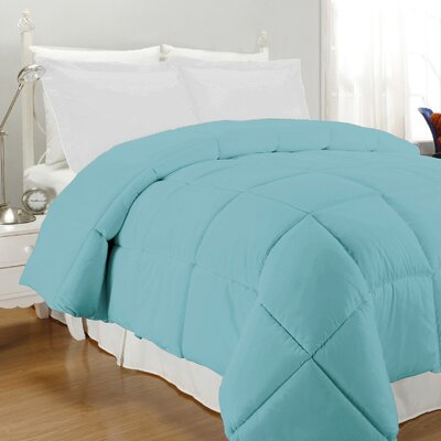 Westview Solid Microfiber Down Alternative Comforter Size: King, Color: Aqua
