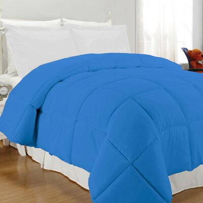 Westview Solid Microfiber Down Alternative Comforter Size: Twin, Color: Cobalt Blue