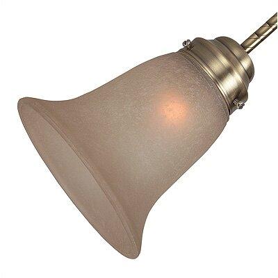 5.5 Glass Bell Ceiling Fan Fitter Shade