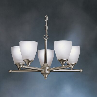 Wheatfield Indoor 5-Light Shaded Chandelier