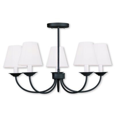 Whitaker 5-Light Shaded Chandelier Finish: Black