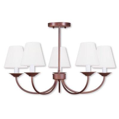 Whitaker 5-Light Shaded Chandelier Finish: Vintage Bronze