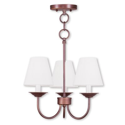 Whitaker Convertible 3-Light Shaded Chandelier Finish: Vintage Bronze