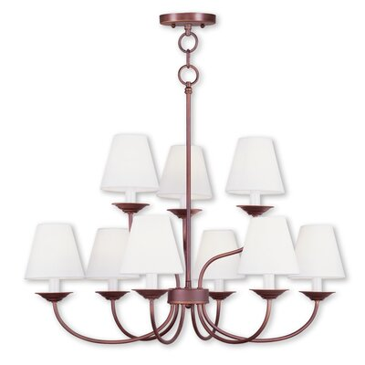 Whitaker 9-Light Shaded Chandelier Finish: Vintage Bronze