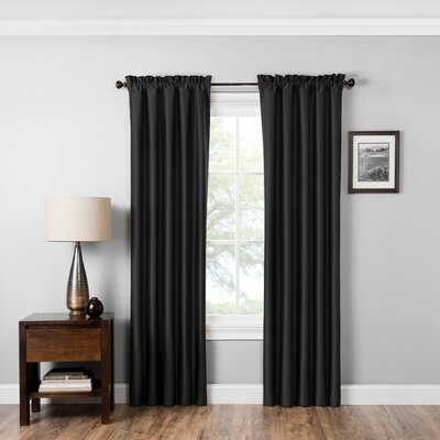 Sea Solid Blockout Thermal Rod Pocket Single Curtain Panel
