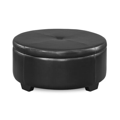 Eunice Round Storage Ottoman Upholstery: Medium Brown