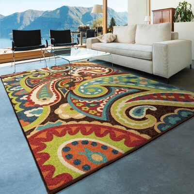Lydia Brown Indoor/Outdoor Area Rug Rug Size: 5'2