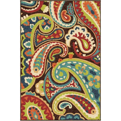 Alayna Brown Indoor/Outdoor Area Rug Rug Size: 310 x 55
