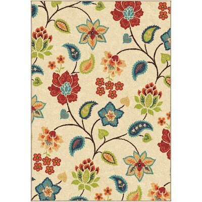 Gault Ivory Indoor Area Rug Rug Size: Rectangle 26 x 39