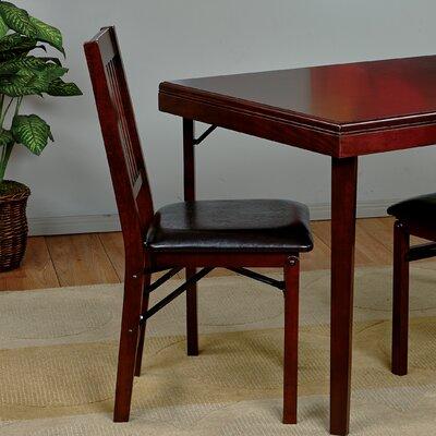 Welwyn Folding Chair Chair Upholstery: Espresso