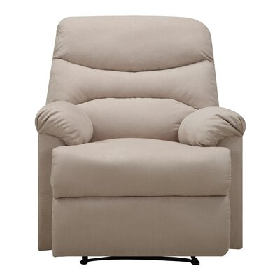 Millicent Chaise Manual Wall Hugger Recliner Upholstery: Khaki
