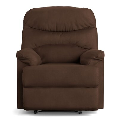 Millicent Chaise Manual Wall Hugger Recliner Upholstery: Mocha