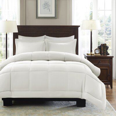 Duncan Reversible Comforter Set Color: Ivory, Size: Twin
