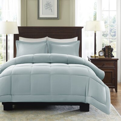 Duncan Reversible Comforter Set Size: Full / Queen, Color: Seafoam