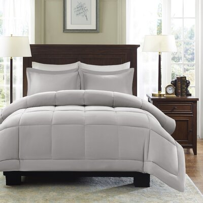Duncan Reversible Comforter Set Size: Full / Queen, Color: Grey