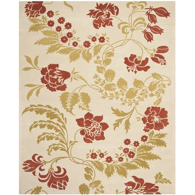 Trudie Beige/Rust Area Rug Rug Size: Rectangle 8 x 10