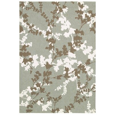 Mccall Willow Branch Hand-Woven Sage Indoor/Outdoor Area Rug Rug Size: Rectangle 56 x 8