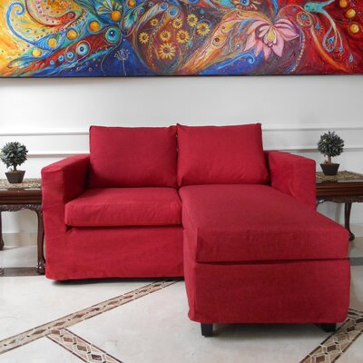 Luella Reversible Chiase Sectional Upholstery: Red