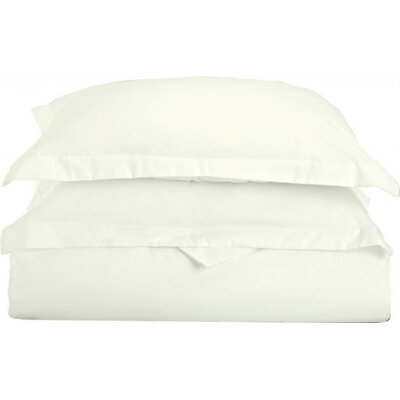 Gabriel Luxury 3 Piece Duvet Cover Set Color: Ivory, Size: Full/Queen