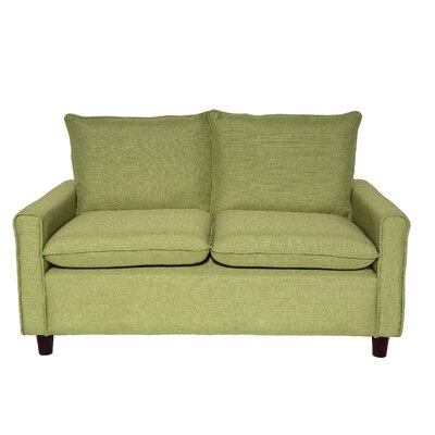 Samuel Modern Loveseat Upholstery: Lemon Green