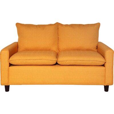 Samuel Modern Loveseat Upholstery: Mustard