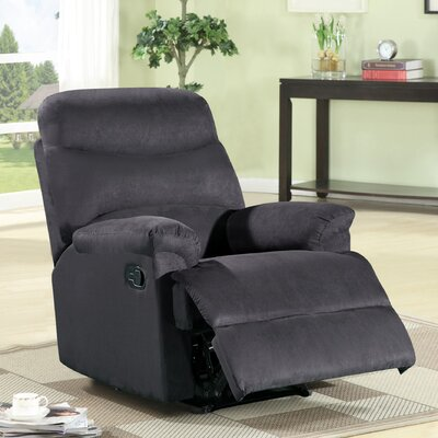 Jonathan Contemporary Microfiber Manual Recliner Upholstery: Black
