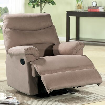 Jonathan Contemporary Microfiber Recliner Upholstery: Light Brown