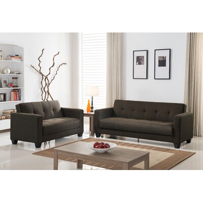 Ruth Sofa and Loveseat Set Upholstery: Coffee