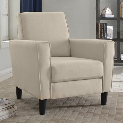 Clement Armchair Color: Beige