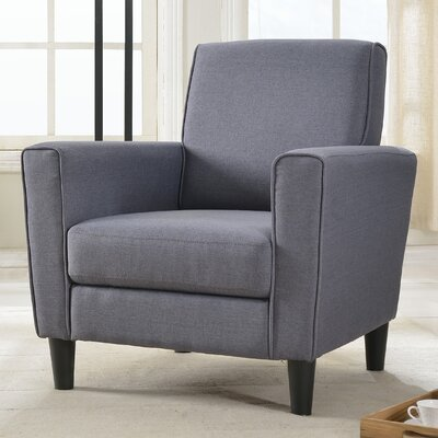 Clement Arm Chair Color: Grey