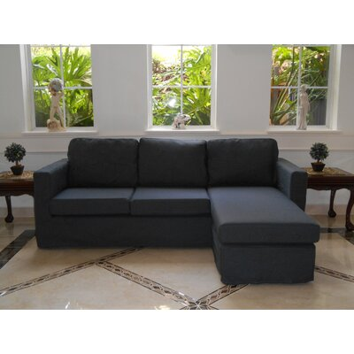 Luella Reversible Sectional Upholstery: Titanium (Linen Look)
