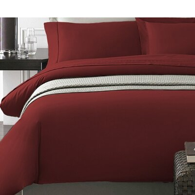 Wayne Duvet Cover Set Color: Rust, Size: Full/Queen