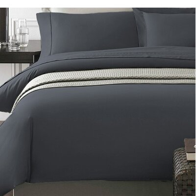 Wayne Duvet Cover Set Color: Gray, Size: Full/Queen