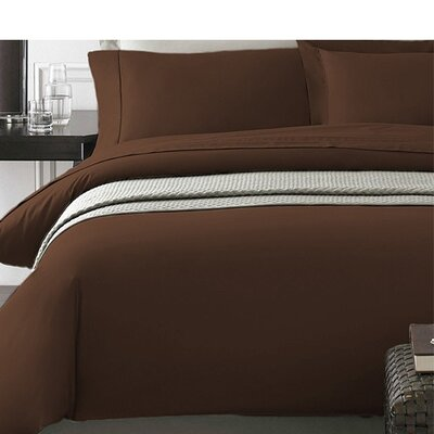Wayne Duvet Cover Set Color: Chocolate, Size: King