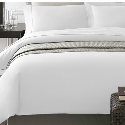 Wayne Duvet Cover Set Color: White, Size: King