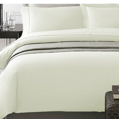 Wayne Duvet Cover Set Size: Twin, Color: Cream